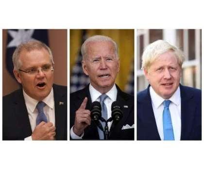 امریکا، برطانیہ اور آسٹریلیا کے درمیان ہونے والے اتحاد پر یورپی یونین ..