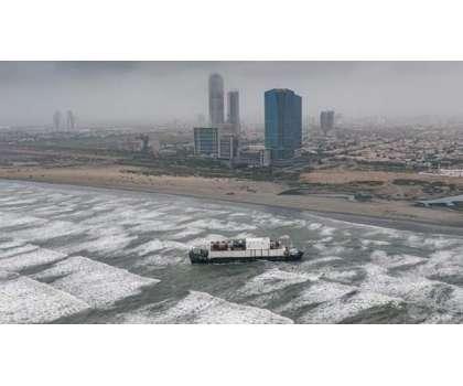 کراچی ساحل سمندر پر پھنسے بحری جہازکے ٹوٹنے کا خدشہ