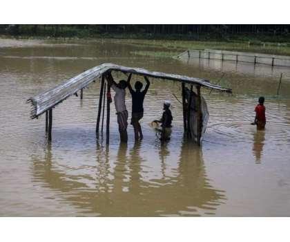 بنگلہ دیش کے کوکس بازار میں شدید بارشیں، ہزارہا مہاجرین بے گھر