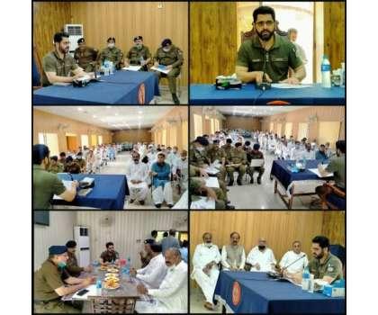 ڈسٹرکٹ پولیس آفیسر جہلم کی ممبران امن کمیٹی، لائسنس داران اور منتظمین ..
