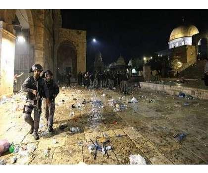 صیہونی گروپ کی پیغمبر اسلامﷺ کی شان میں گستاخی، فلسطینی سراپا احتجاج