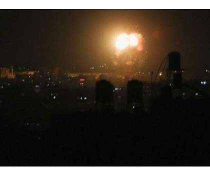 اسرائیلی لڑاکا طیاروں کا غزہ پٹی کے جنوبی حصے میں ایک فضائی حملہ