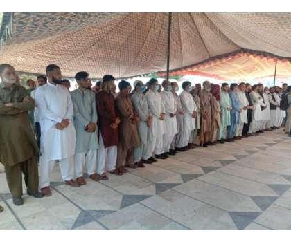 معروف حریت رہنما سید علی گیلانی کی غائبانہ نماز جنازہ  آزاد کشمیر کے ..