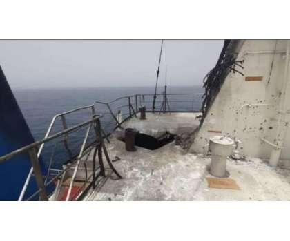 عمان کی سمندری حدود میں اسرائیلی بحری جہاز پر حملہ، نقصانات سے متعلق ..