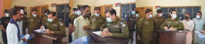 ڈی پی او ٹوبہ رانا عمر فاروق کی ڈی ایس پی کمالیہ دفتر میں کھلی کچہری ..