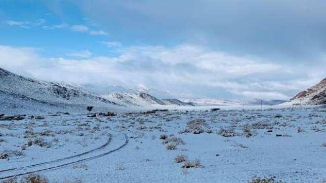 سعودی عرب کے علاقے جبل اللوزمیں درجہ حرات نقطہ انجماد سے نیچے جانے ..