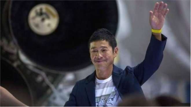 ارب پتی جاپانی شخص کا آٹھ افراد کو چاند کی سیر کرانے کاا علان
