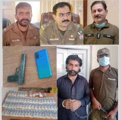 اوچ شریف پولیس کی کاروائی،خطرناک موٹرسائیکل ڈکیت کوڑو گینگ کا سرغنہ ..