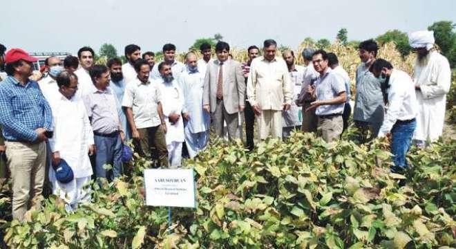 مختلف اضلاع کے کاشتکاروں نے زرعی یونیورسٹی فیصل آباد کے ایگرانومی ..