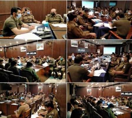 ڈسٹرکٹ پولیس آفس جہلم میں کرائم میٹنگ کا انعقا د
