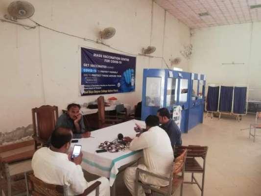 لودھراں کی تحصیل  کہروڑپکا میں ویکسینشن سنٹروں ویکسین کا سٹاک ختم ہو ..