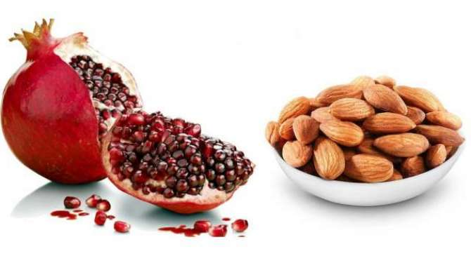 Almond Aur Pomegranate - Behtareen Super Food - Article No. 2091