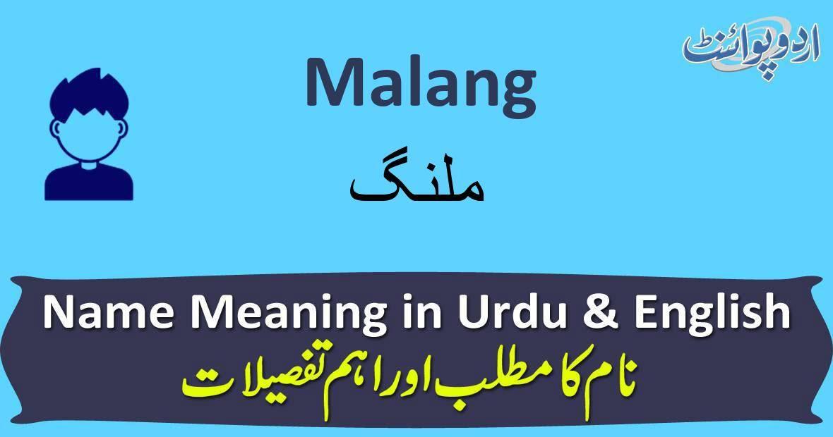 Malang Name Meaning In Urdu ملنگ Malang Muslim Boy Name