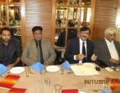 Shoaib Bin Aziz And Tehzeeb Haafi In A Group Photo In Sheezan Hotel Photo Gallery
