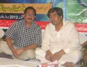 Qamar Raza Shahzad And Anjum Saleemi In A Mushaira In Sialkot