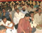 Abid Malik, Taimoor Hassan Taimoor And Shahid Zaki In A Mushaira