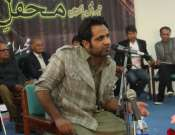 Tehzeeb Haafi In Annual Mushaira In University Of Gujrat Photo Gallery