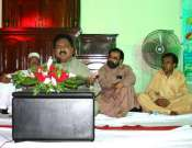 Another View Of Abbas Tabish In Gistrict Government Gujrat Mushaira Photo Gallery