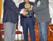 Waseem Abbas Receiving Shield From Amjad Islam Amjad Photo Gallery