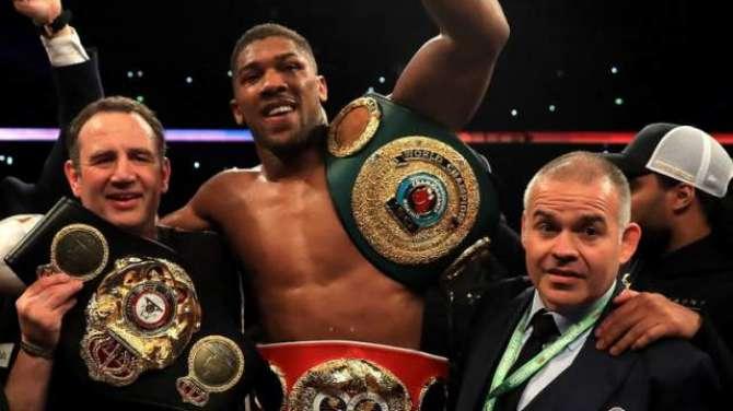 Anthony Joshua World Heavy Weight Boxing Champion