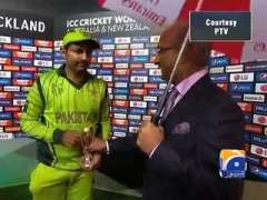 Sarafaz Ahmed Named Man Of The Match In Pak Vs South Africa Cricket World 2015