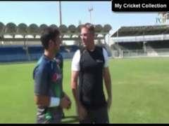 Yasir Shah Bowling Session With Shane Warne