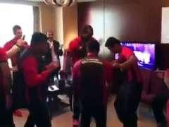 PSL 2016- Chris Gayle Dances On Lahore Qalandar Song With Azhar Ali
