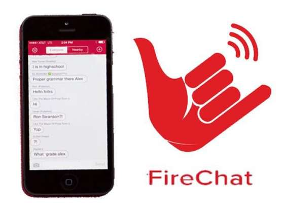 FireChat  can text without Internet or Mobile Services