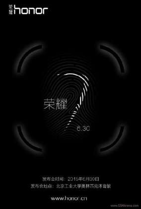 Huawei to launch Honor 7 with fingerprint sensor on June 30