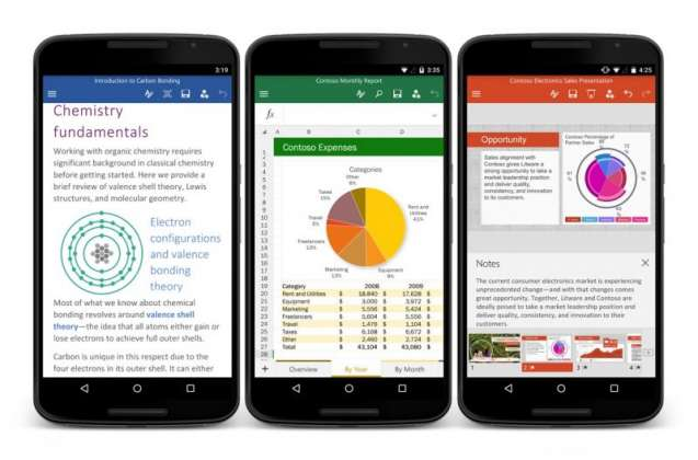 Microsoft Office apps now available for Android smartphones