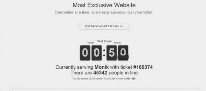 Most exclusive web site
