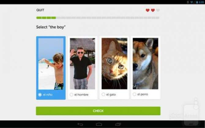 Doulingo Android and IOS application