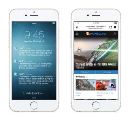 Facebook's Notify news app sends headlines to your lock screen