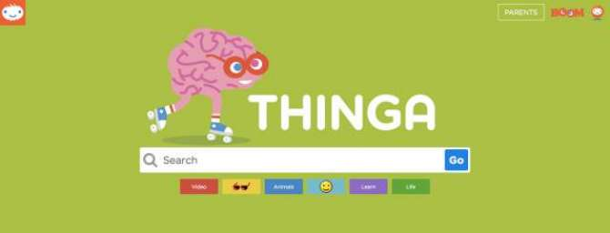 THINGA IS A KID FRIENDLY SEARCH ENGINE