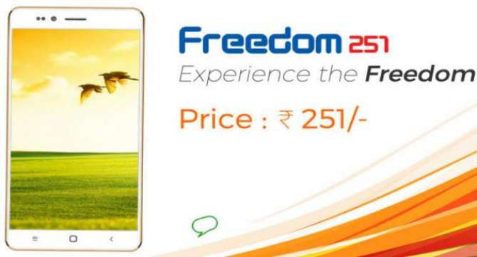 THE FREEDOM 251 IS A QUAD CORE ANDROID SMARTPHONE THAT COSTS AS MUCH AS A CUP OF COFFEE