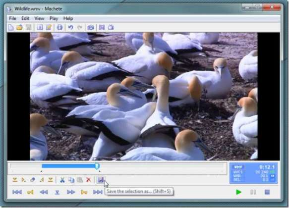 Delete any part of video with Machete Lite