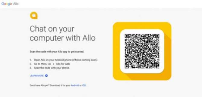 Google Allo finally has a web client but only for Android phones