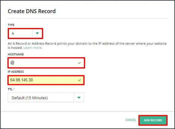 what is a record in dns