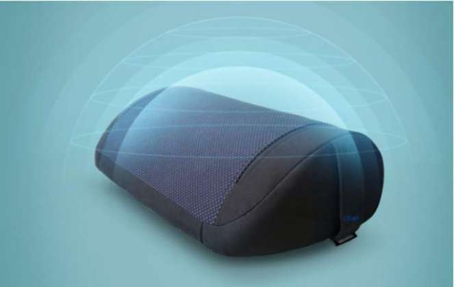 This musical pillow lies between headphones and speakers