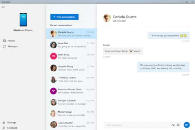 Your Phone Windows app will let you write text messages from your PC