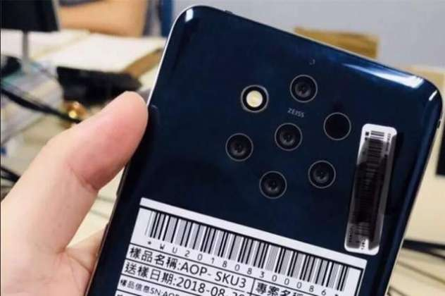 Leaked image teases Nokia phone with five cameras