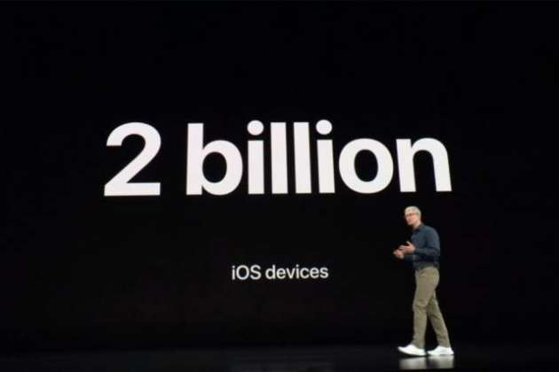 Two billion devices run iOS globally