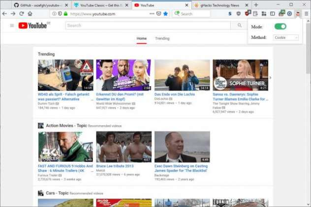 Restore YouTube's Classic Look in Firefox and Chrome