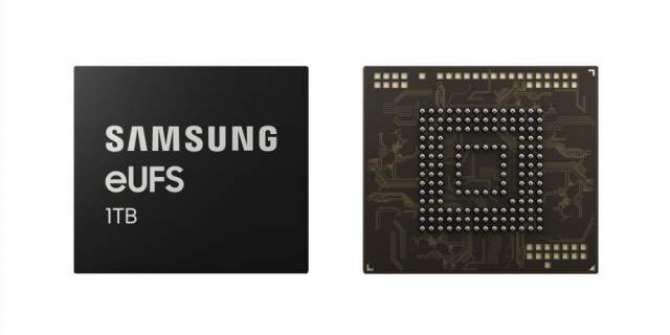 Samsung develops the first 1TB storage chip for phones