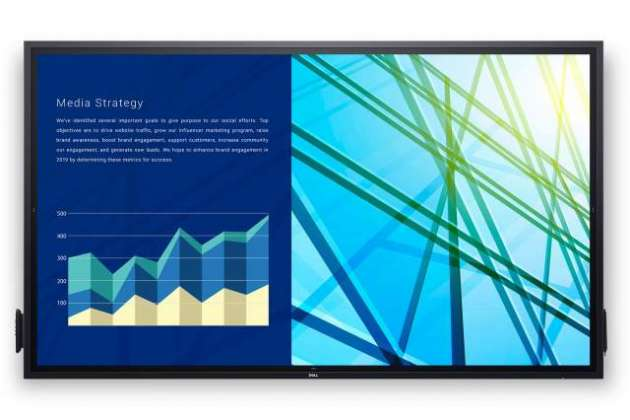 Dell made an 86-inch touchscreen monitor for the workplace