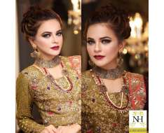 bridal makeup at nadia hussain salon 0300-8253325