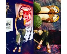 my yummy mocha studded crossed flats make me feel like i am walking on the moon brand new collection available thelabel life.com