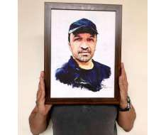 really grateful to artist for this painting. very touched by his efforts. thank you too kind