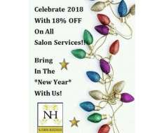 18 off today on all salon services 0300-8253325