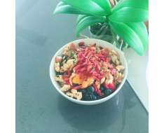 this morning for breakfast i had love disguised as blueberriesgoji berries pumpkin seeds walnuts yummmmy